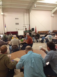 Brotherhood learning about game laws from DNR officers